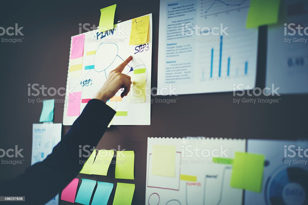 Business Chart Organization Planning Marketing Concept stock photo