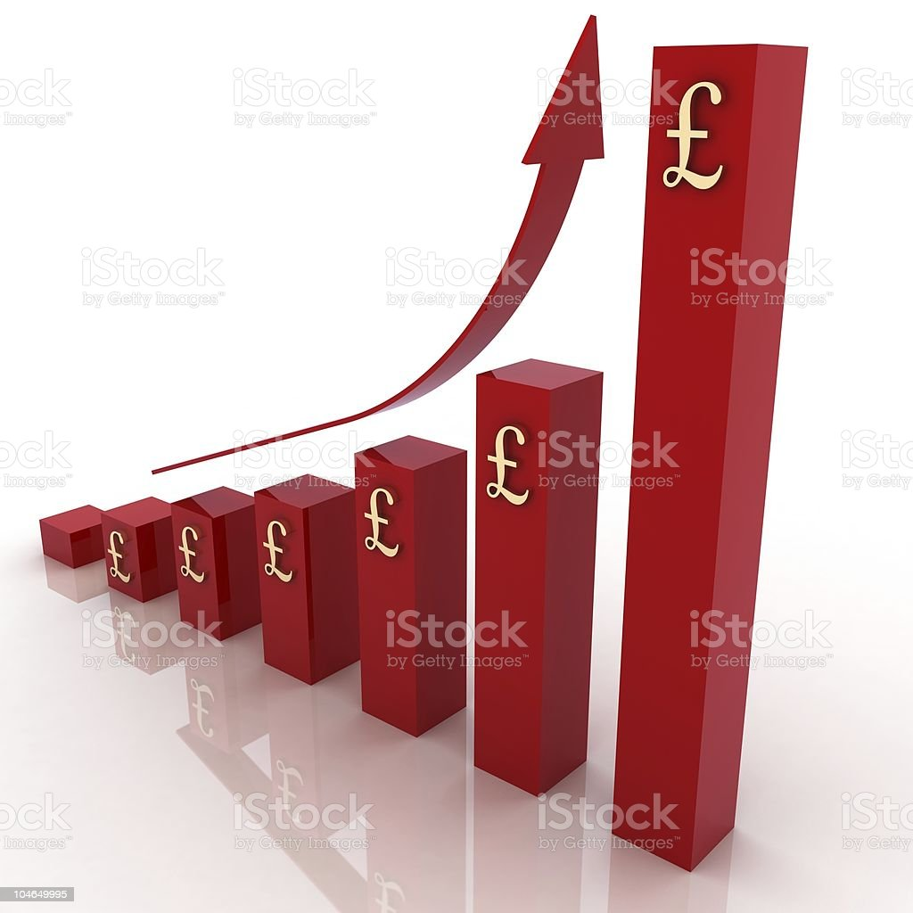 Business Chart - Pounds royalty-free stock photo