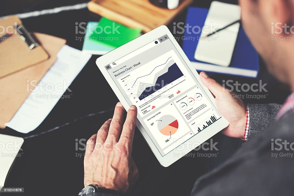 Business Chart Report Statistic Planning Analysis Concept stock photo