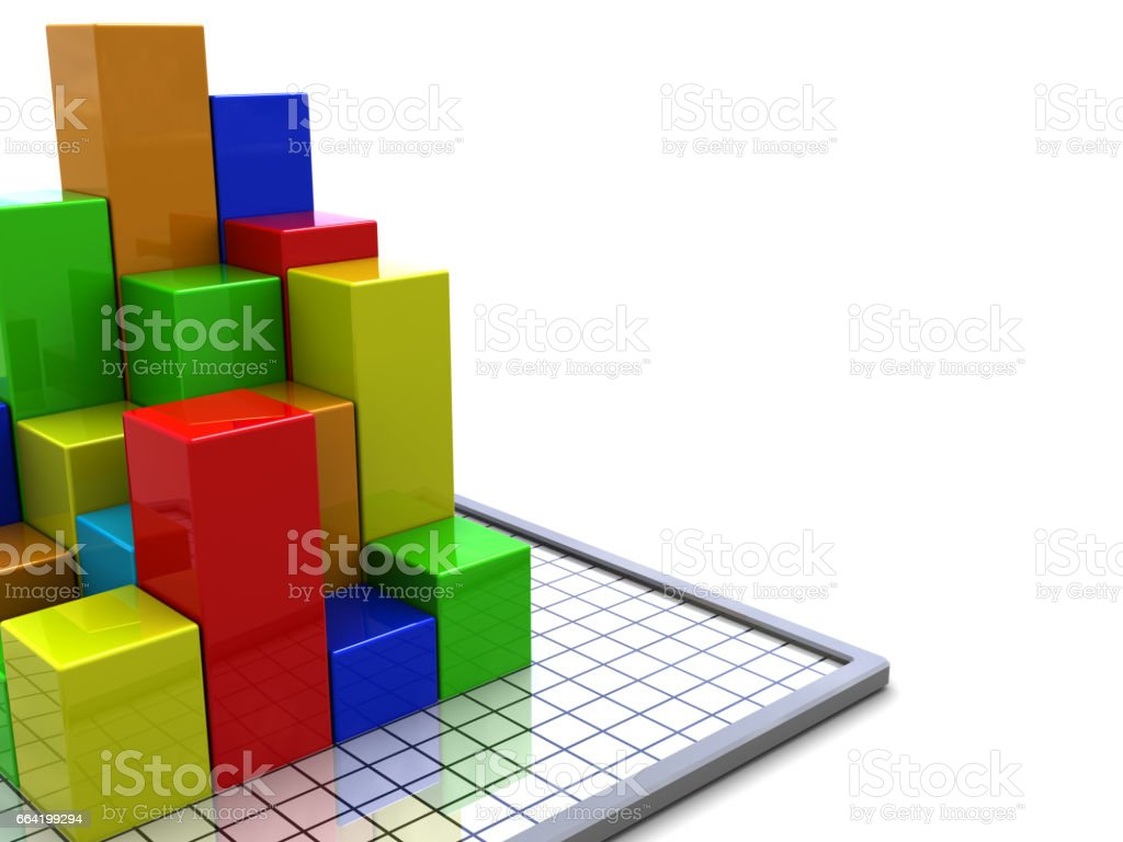 business charts background stock photo