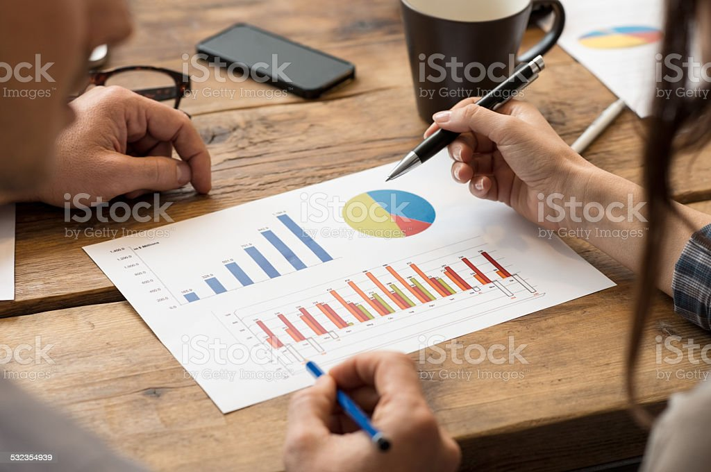 Business charts stock photo