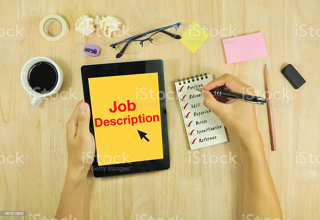 Job Description Pictures, Images And Stock Photos - Istock