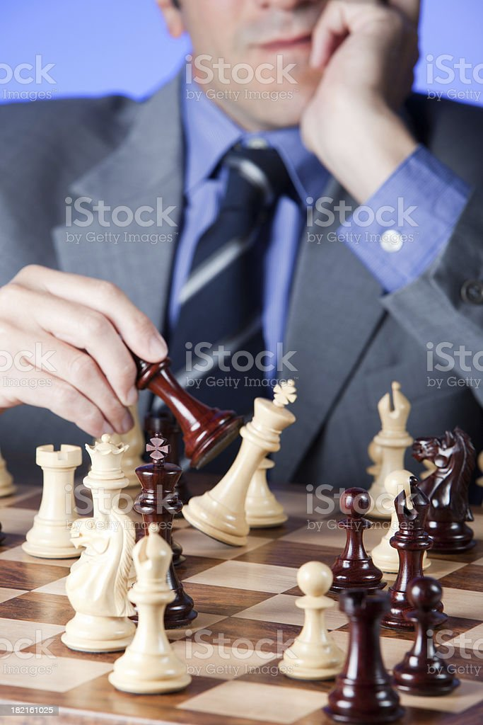 Business Checkmate royalty-free stock photo