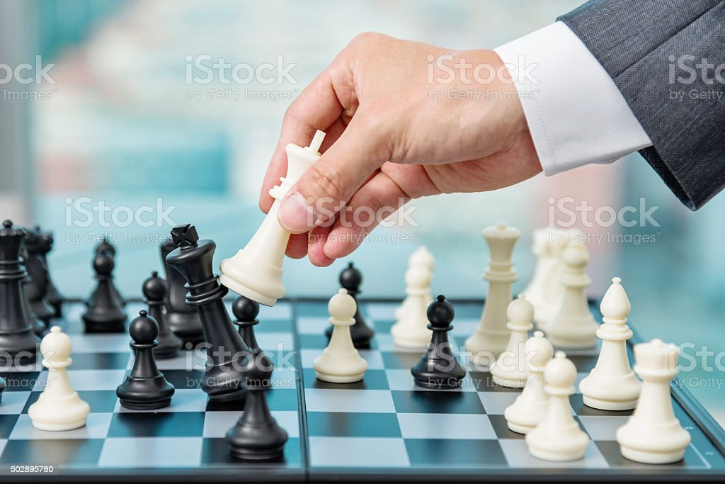 Business checkmate stock photo