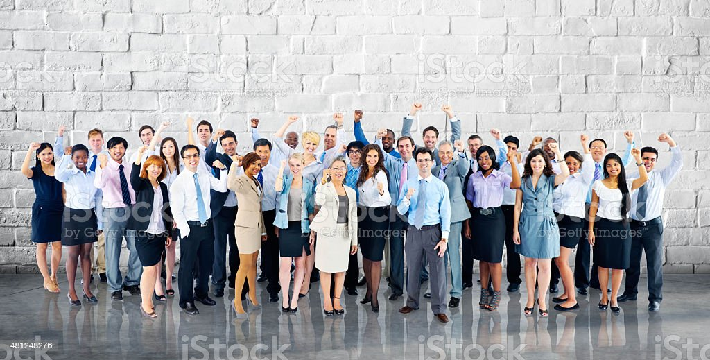 Business Cheerful Cooperation Happiness Team Concept stock photo