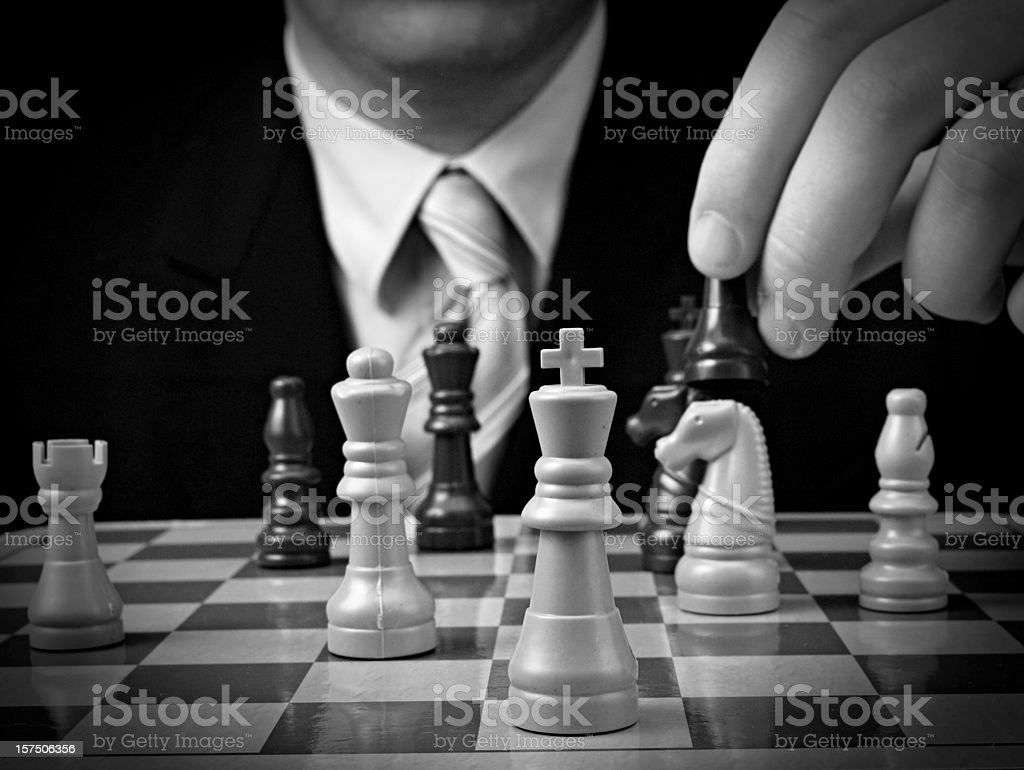 Business Chess Decision royalty-free stock photo