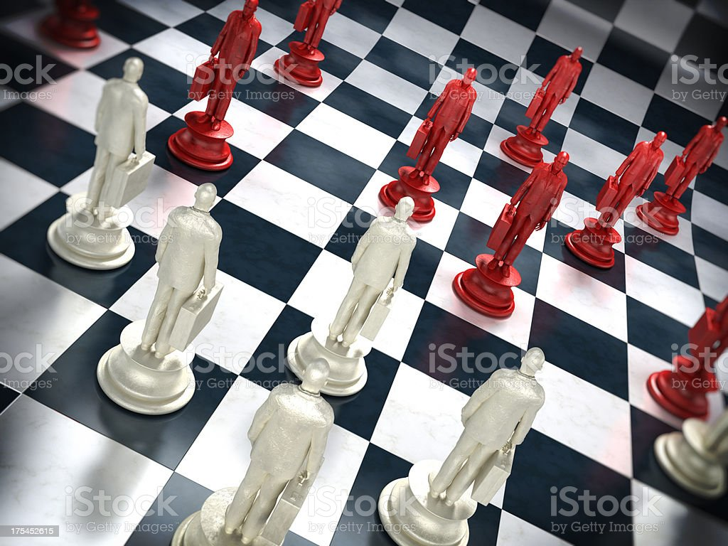 Business chess royalty-free stock photo