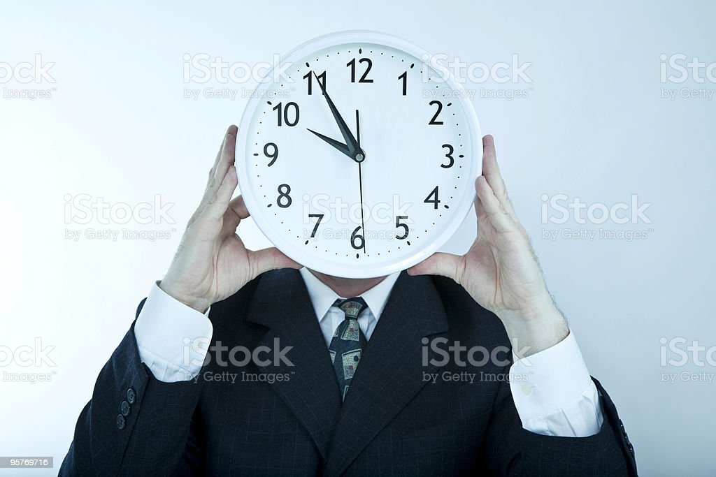 Business Clock Face royalty-free stock photo