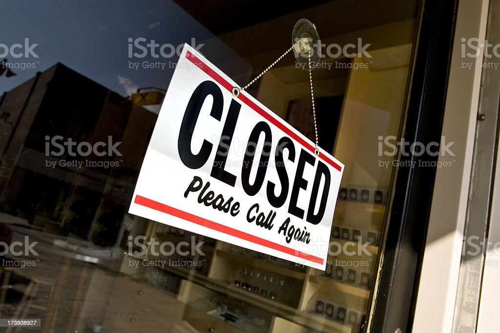 Business closed for the day royalty-free stock photo