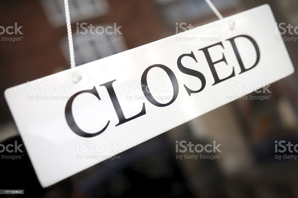 Business Closed stock photo