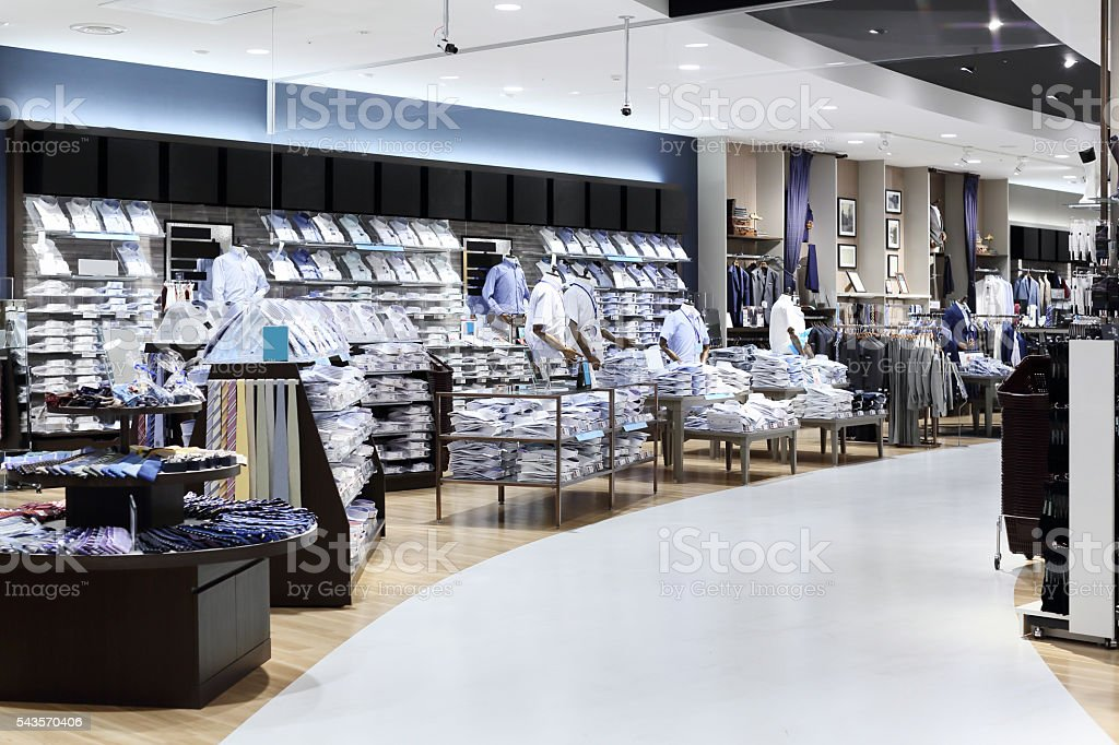Business clothing store stock photo