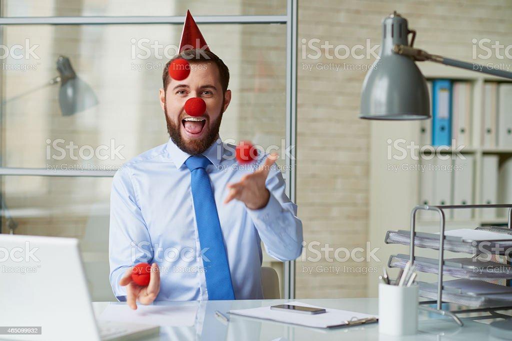 Business clown stock photo