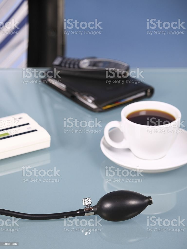 Business Coffee and Blood Pressure royalty-free stock photo