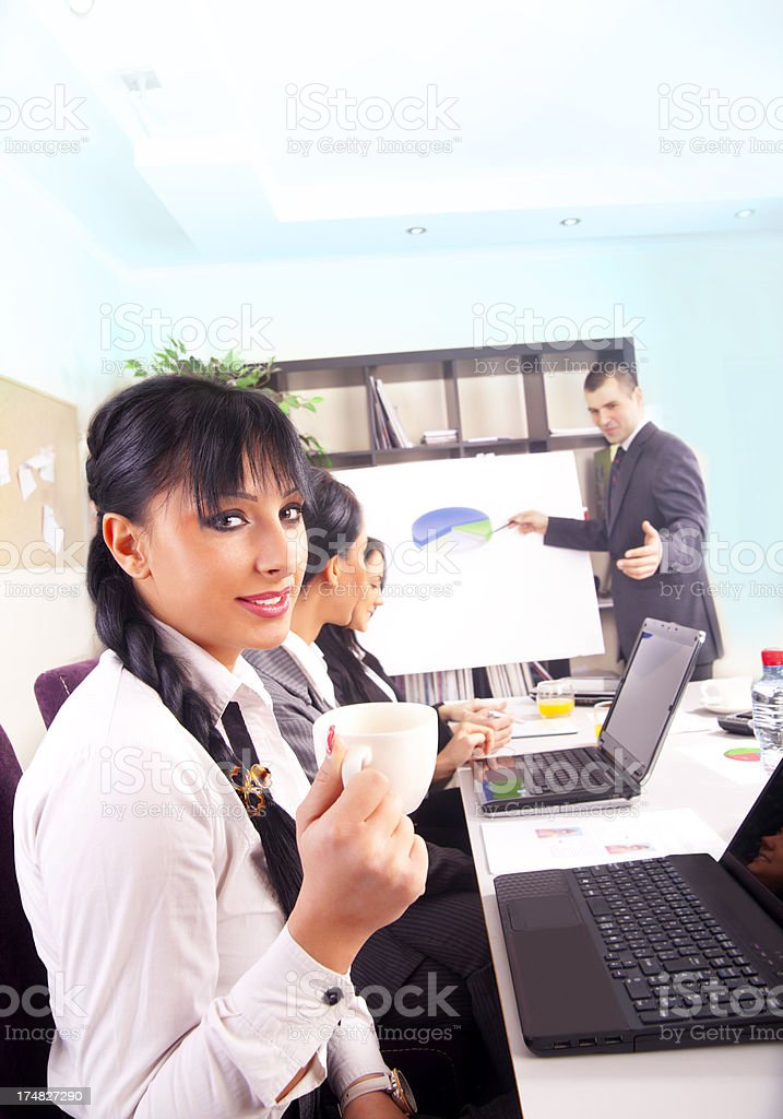 Business coffee royalty-free stock photo