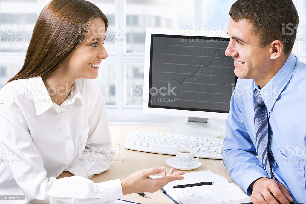 Business colleague royalty-free stock photo