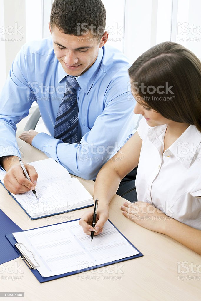Business colleague stock photo