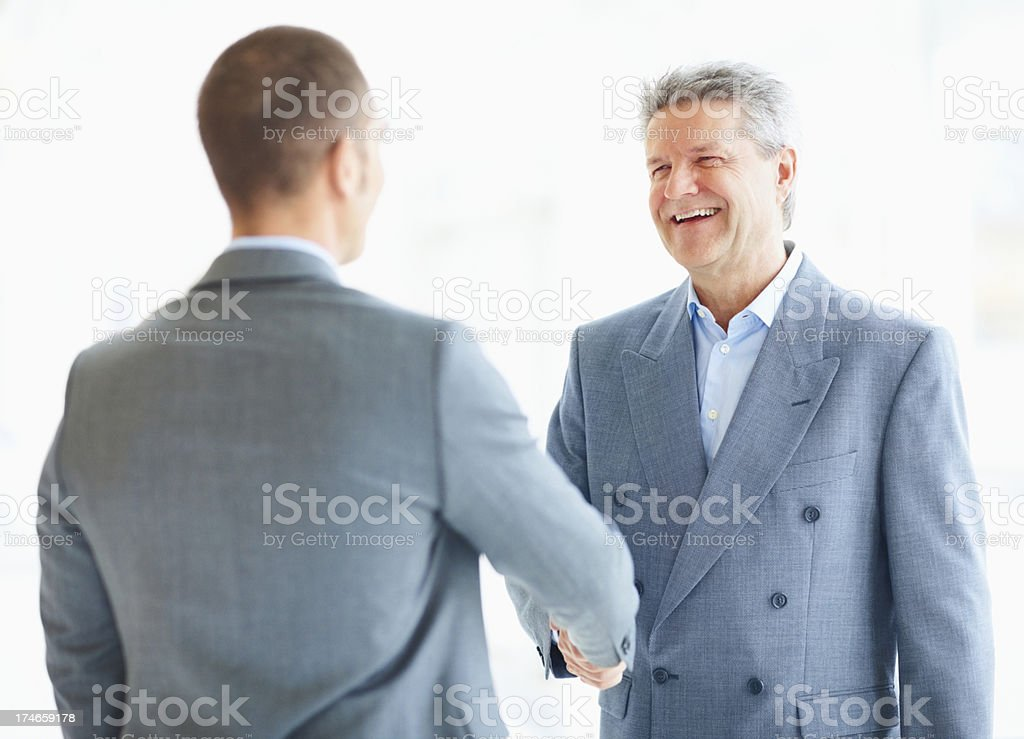 Business colleague shaking hands royalty-free stock photo