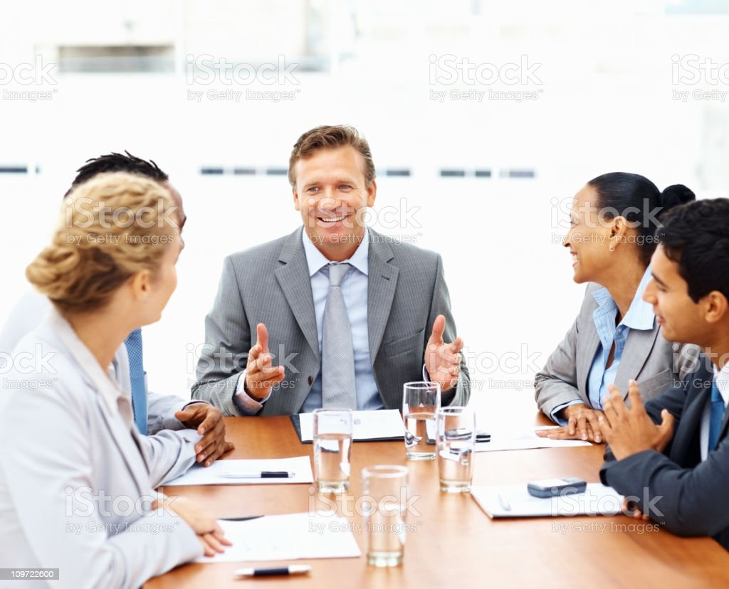 Business colleagues at a meeting royalty-free stock photo