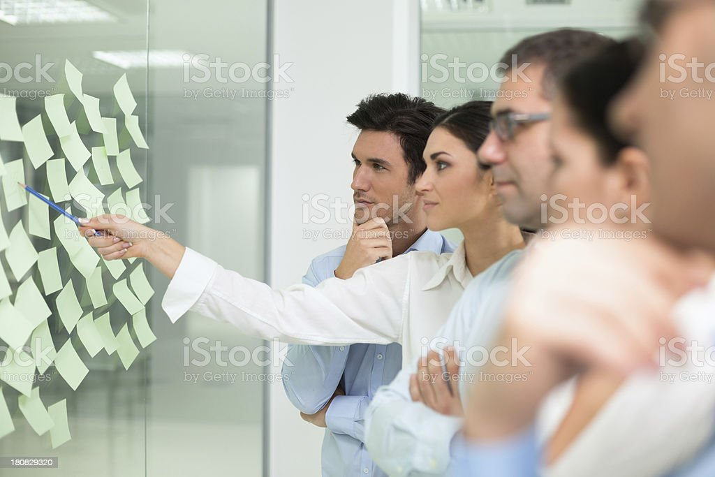Business colleagues brainstorming ideas royalty-free stock photo