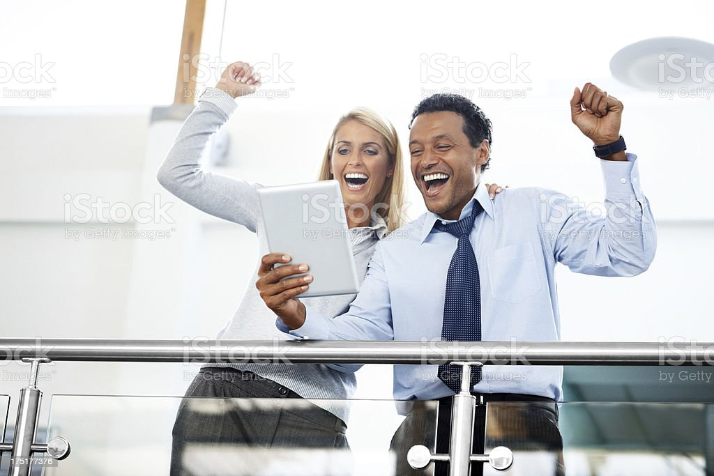 Business colleagues celebrating success royalty-free stock photo