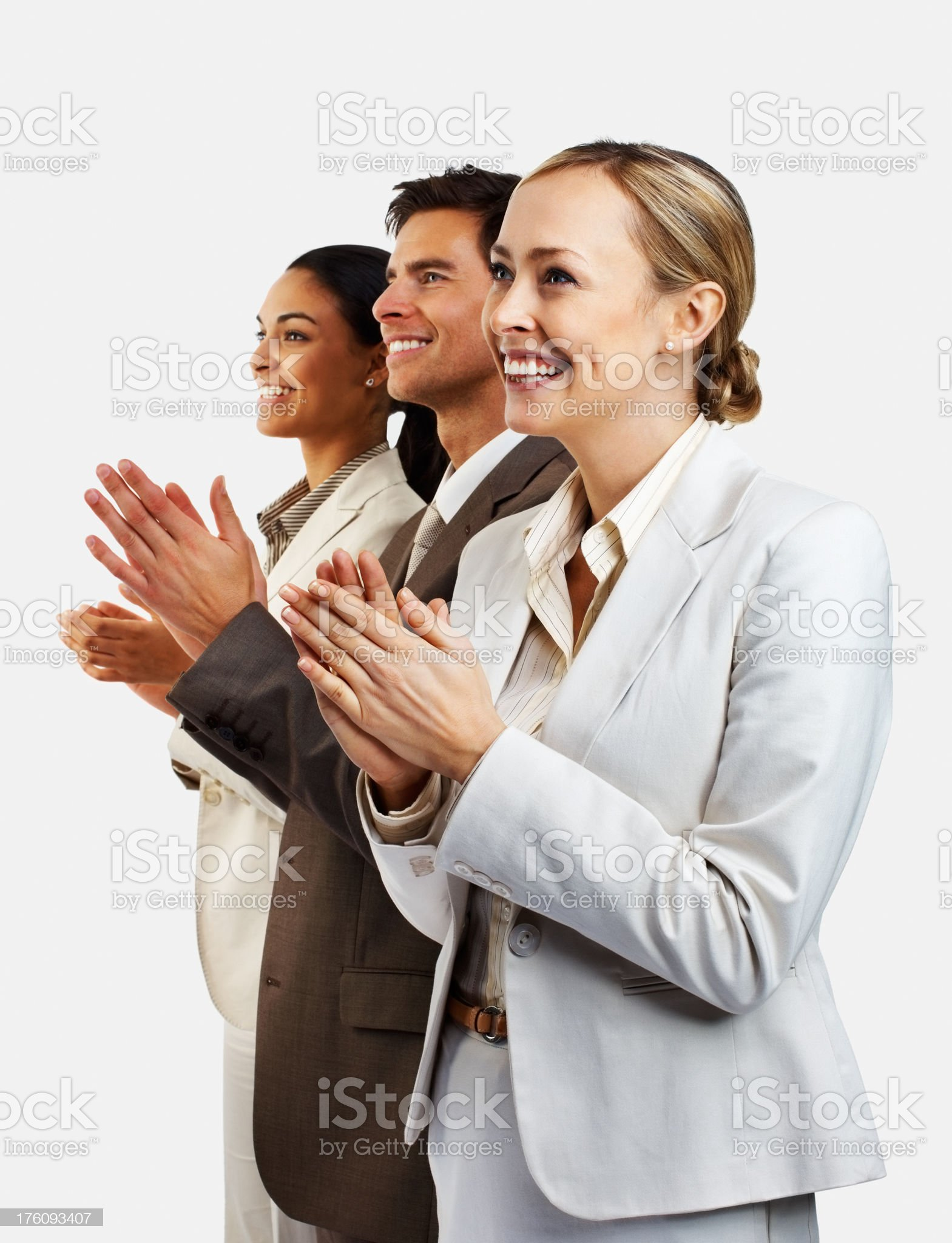 Business colleagues clapping hands royalty-free stock photo
