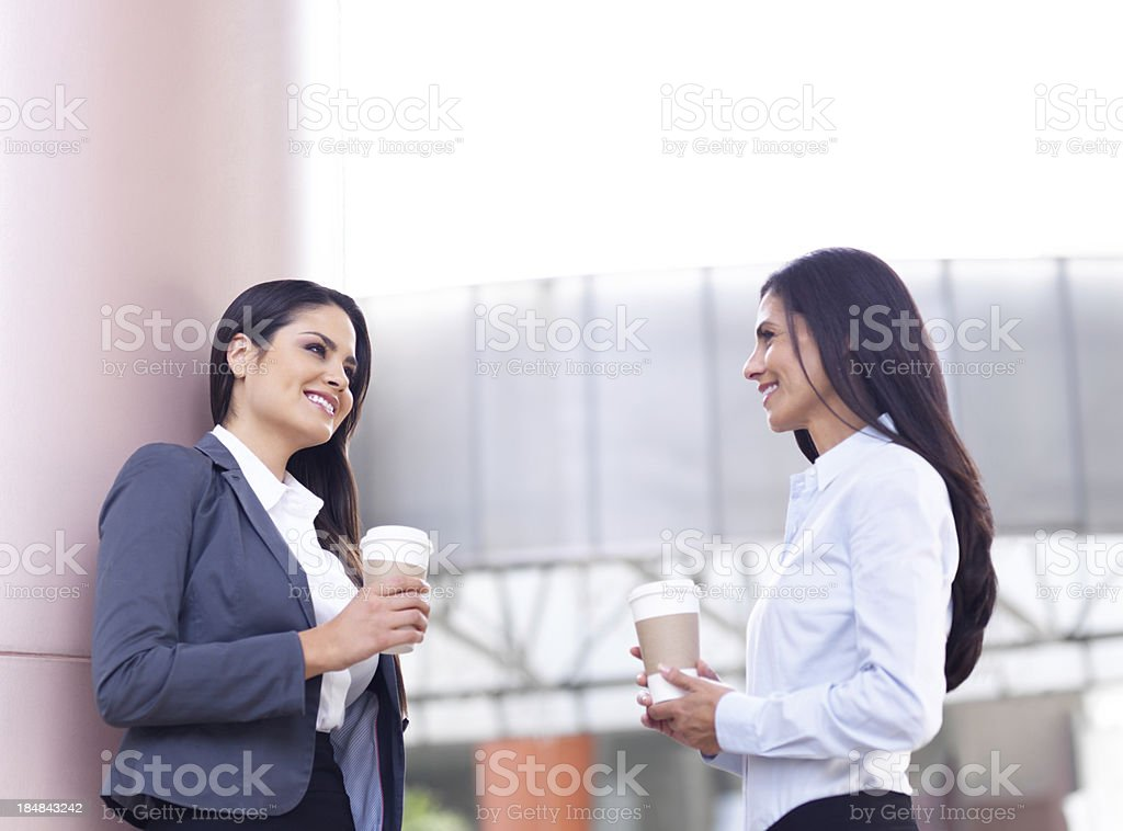 Business colleagues drinking coffee royalty-free stock photo