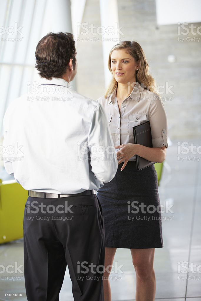 Business colleagues having a meeting in the office royalty-free stock photo