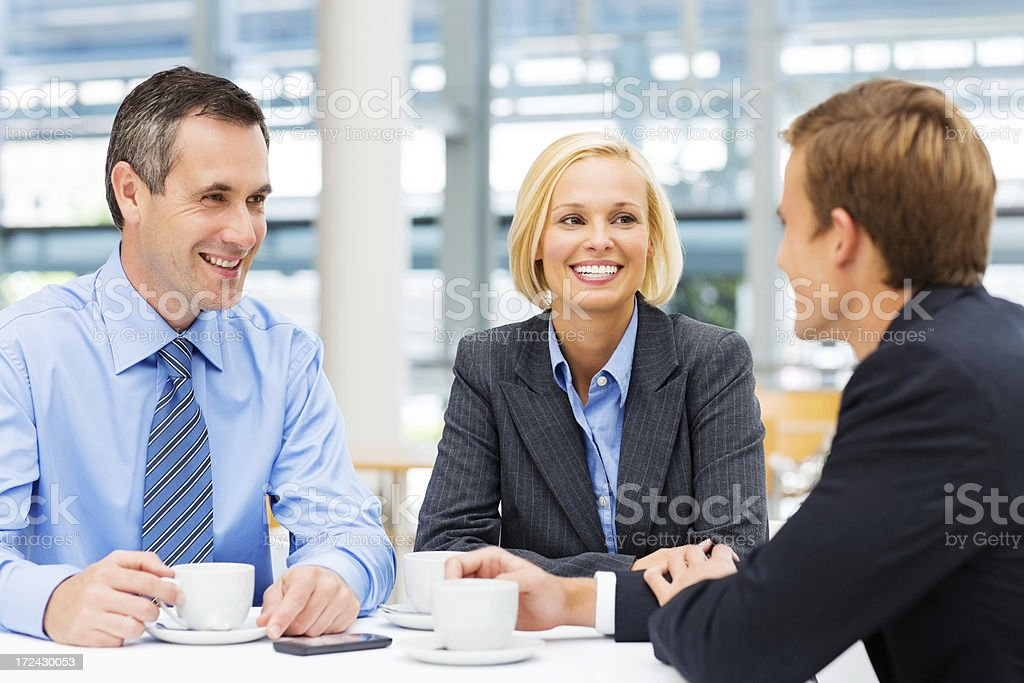 Business Colleagues Having Coffee Break royalty-free stock photo