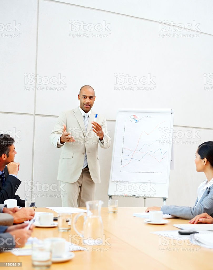 Business colleagues in a meeting royalty-free stock photo