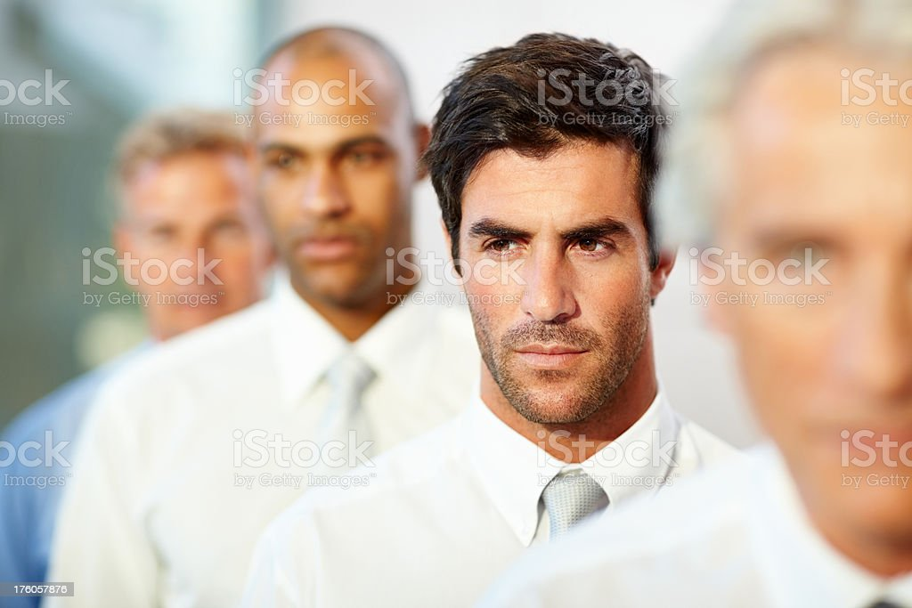Business colleagues looking away royalty-free stock photo