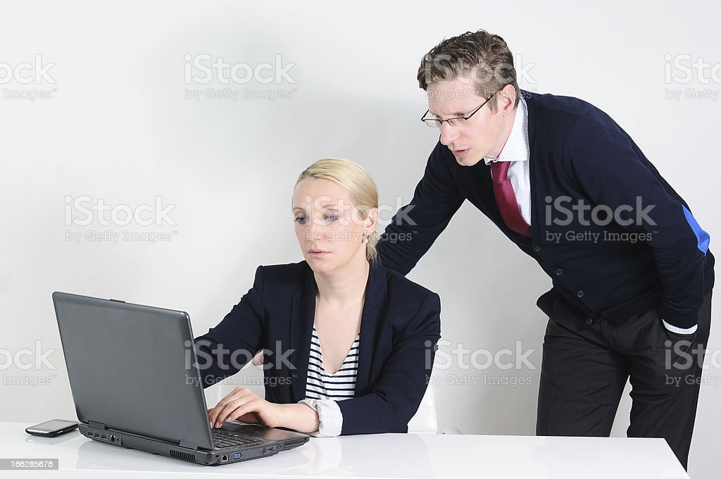 Business colleagues planning for a project royalty-free stock photo