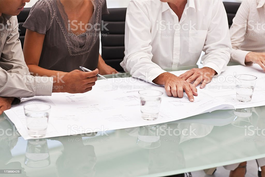 Business colleagues planning in meeting royalty-free stock photo