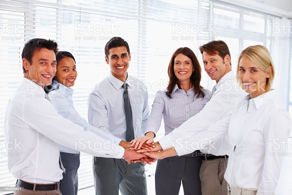 Business colleagues showing unity royalty-free stock photo