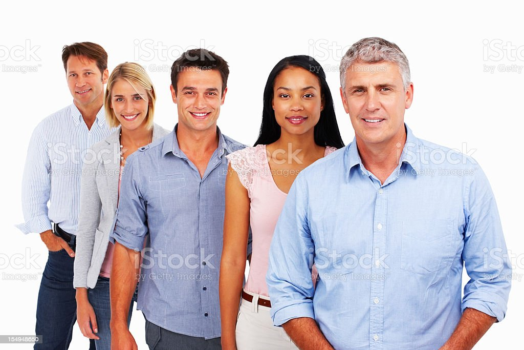 Business colleagues standing in a row royalty-free stock photo