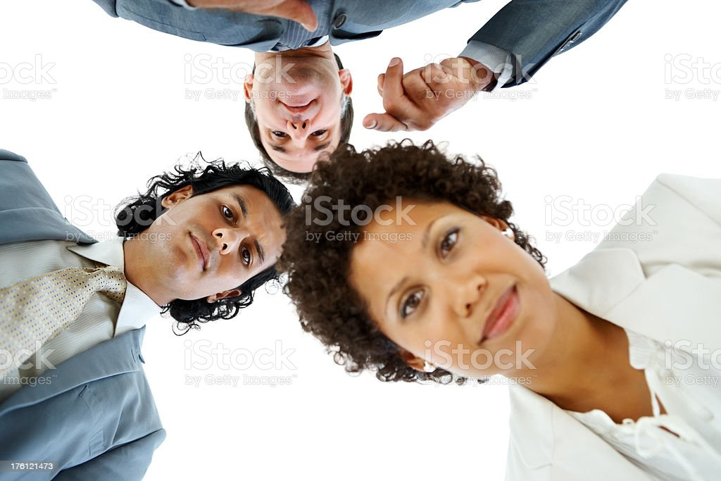 Business colleagues standing togetrher royalty-free stock photo