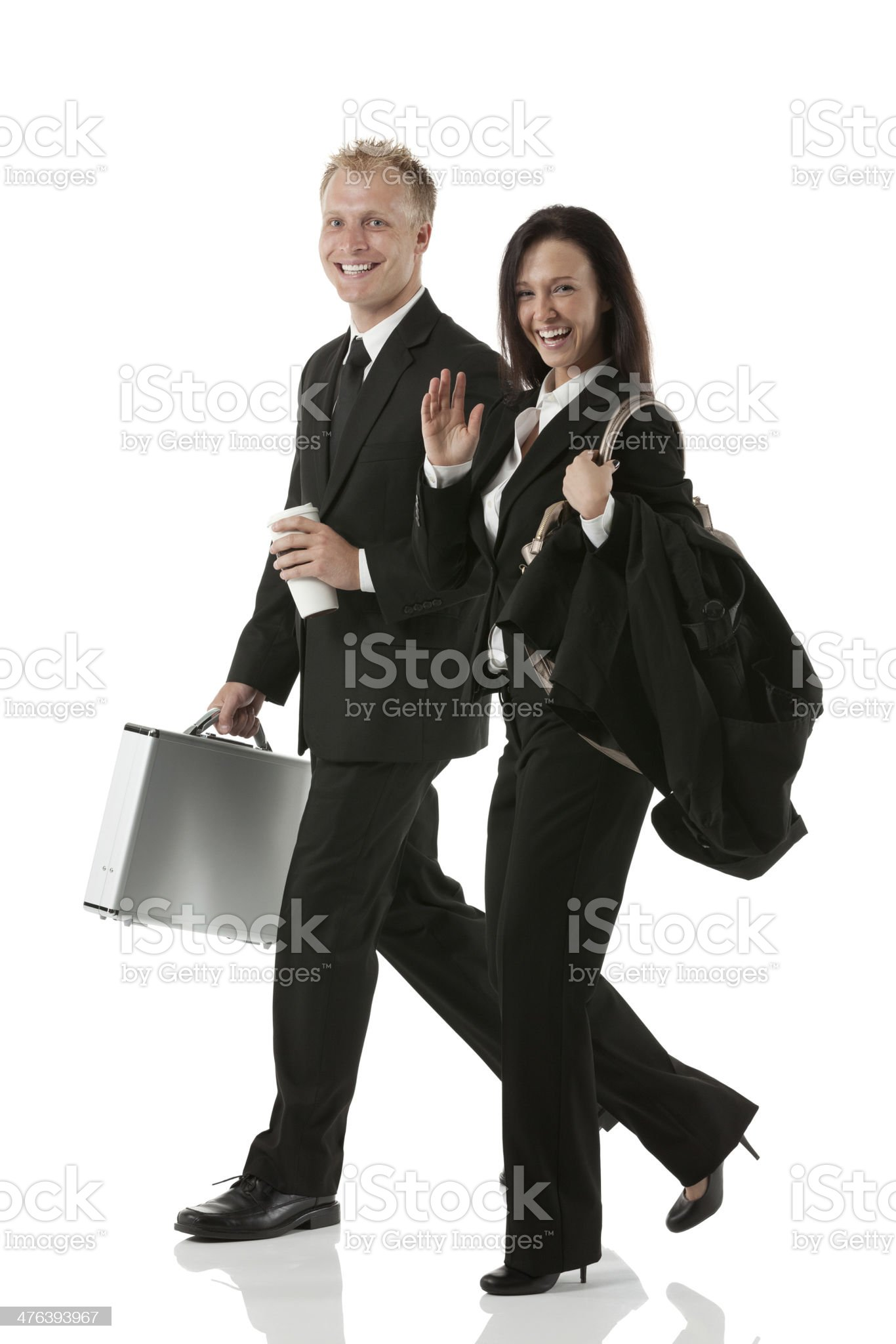 Business colleagues walking royalty-free stock photo