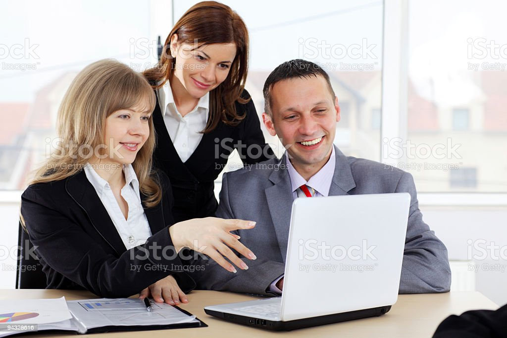 Business colleagues working in the office. royalty-free stock photo