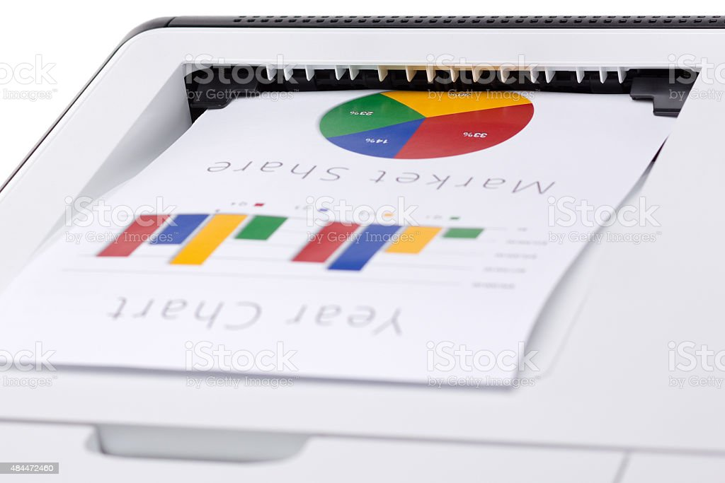Business color chart printed stock photo