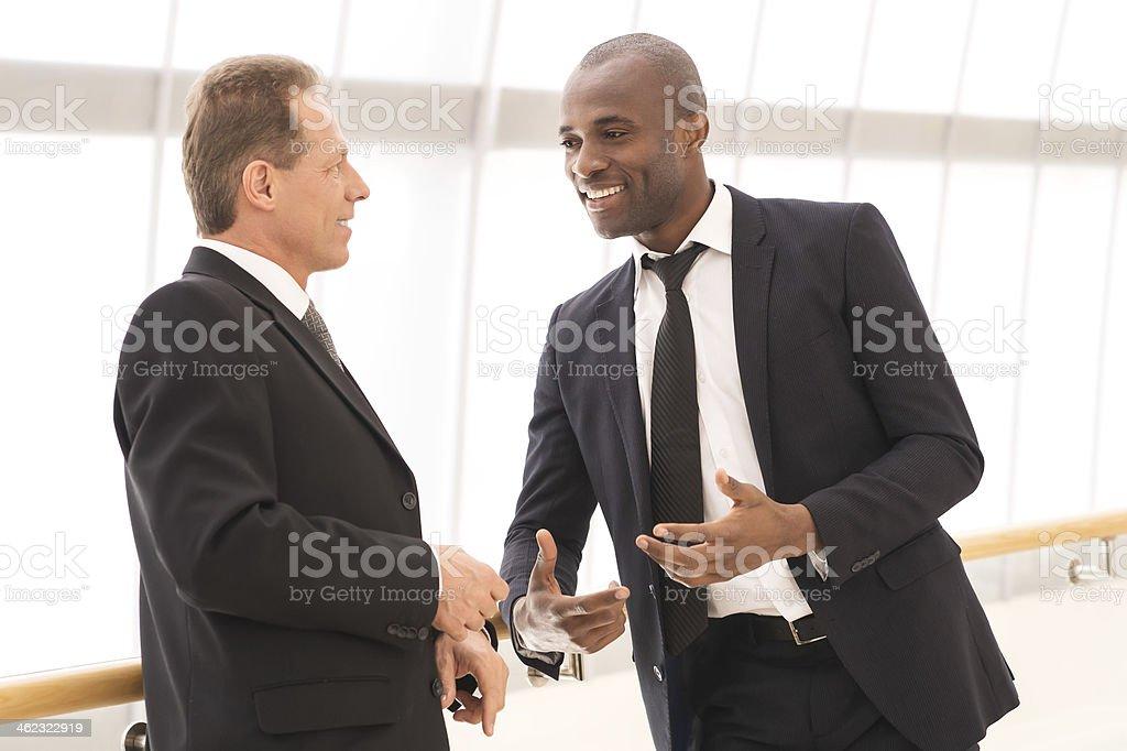 Business communication. stock photo