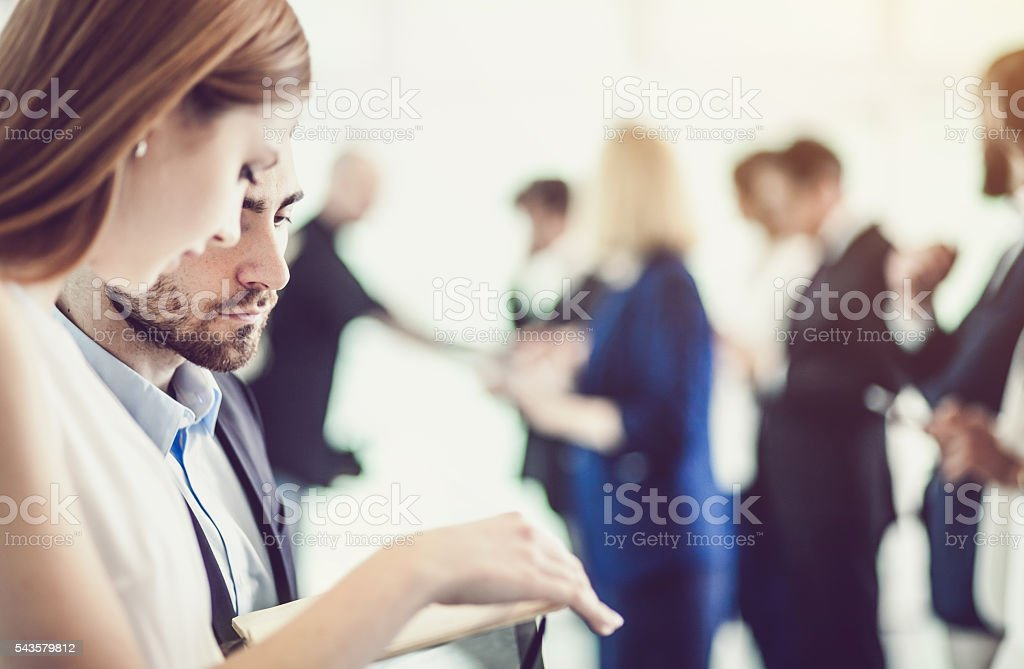 Business communication stock photo
