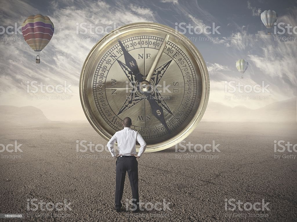 Business compass royalty-free stock photo