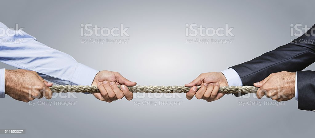 Business competition concept stock photo