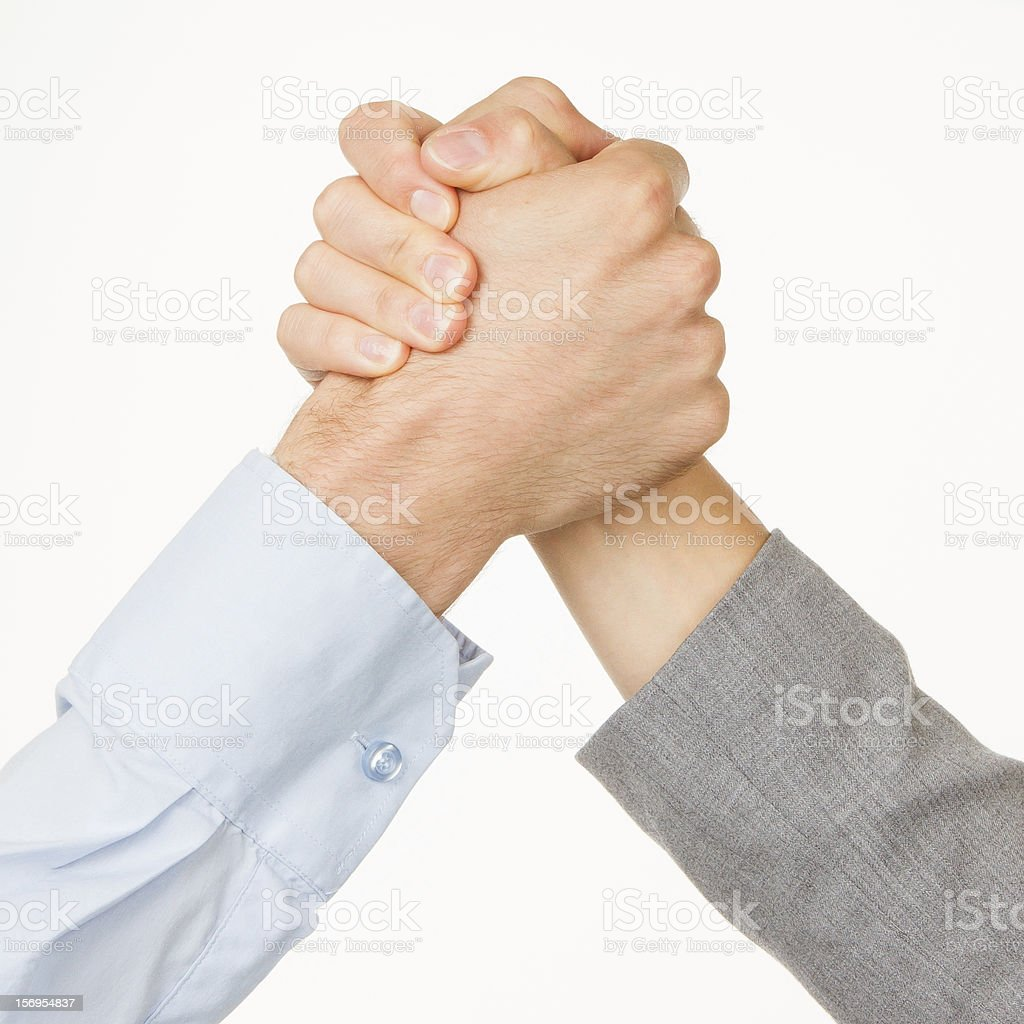 Business competition or fight stock photo