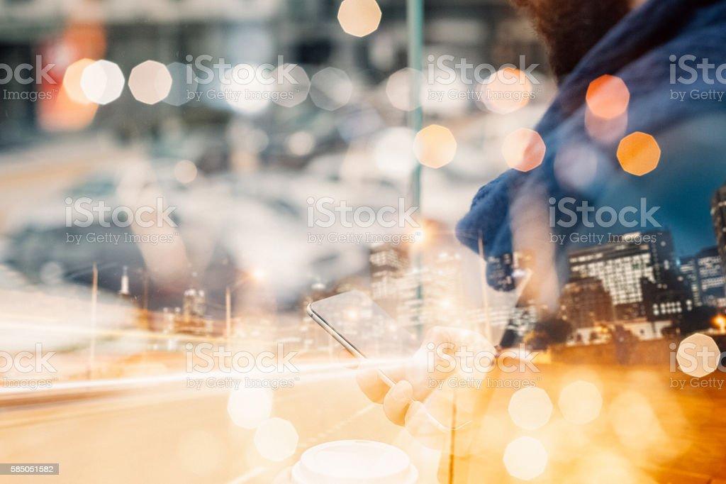 Business computing concept stock photo