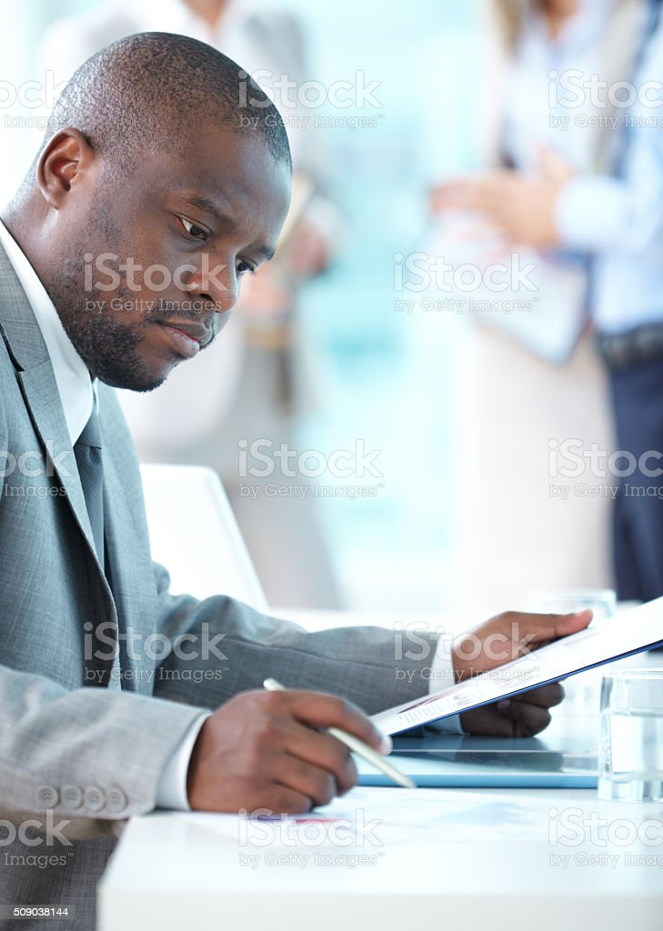 Business concentration stock photo