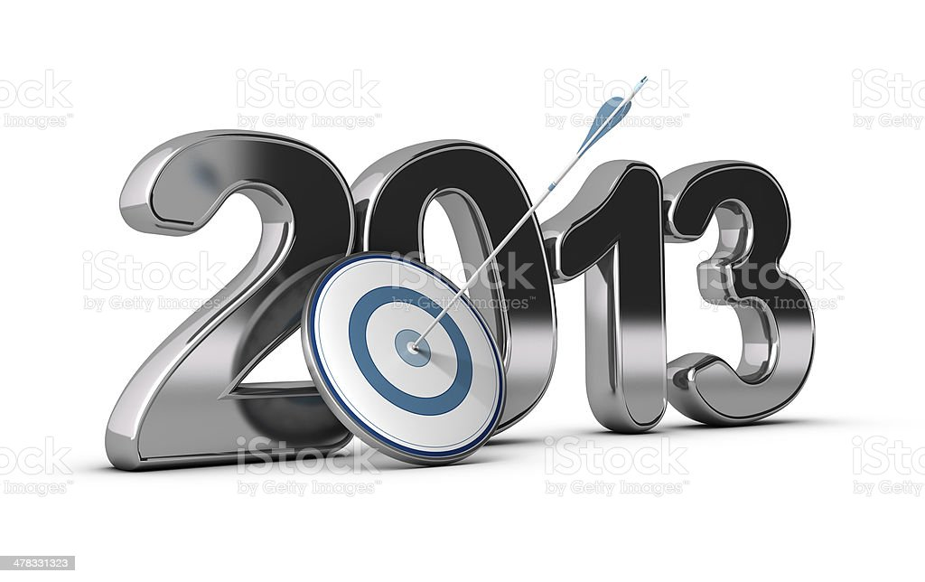 Business Concept - 2013 Objectives Achieved stock photo