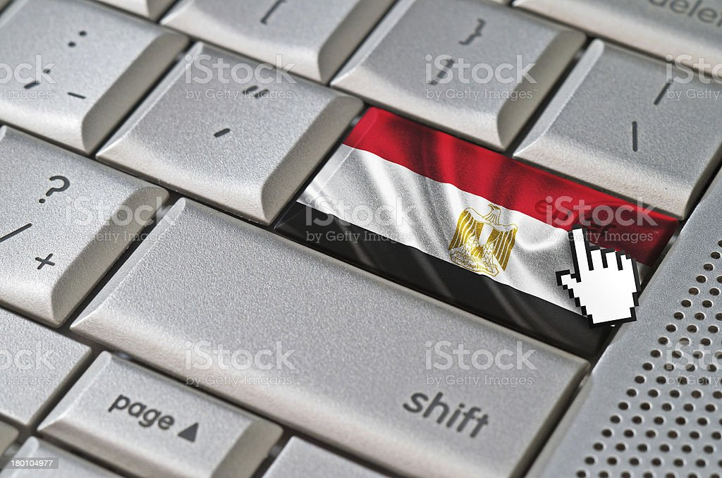 Business concept enter Egypt royalty-free stock photo