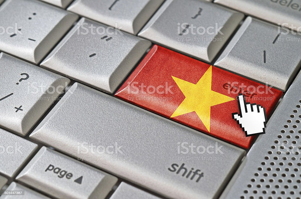Business concept enter Vietnam royalty-free stock photo