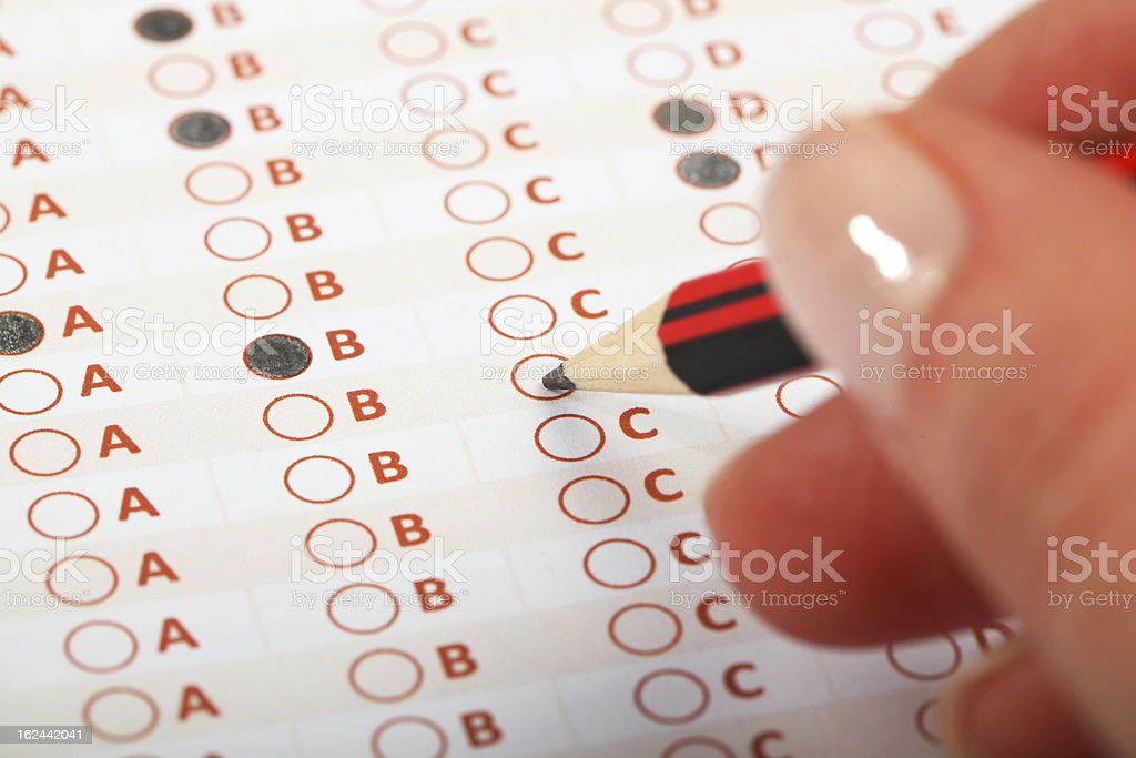 Business Concept - Exam royalty-free stock photo