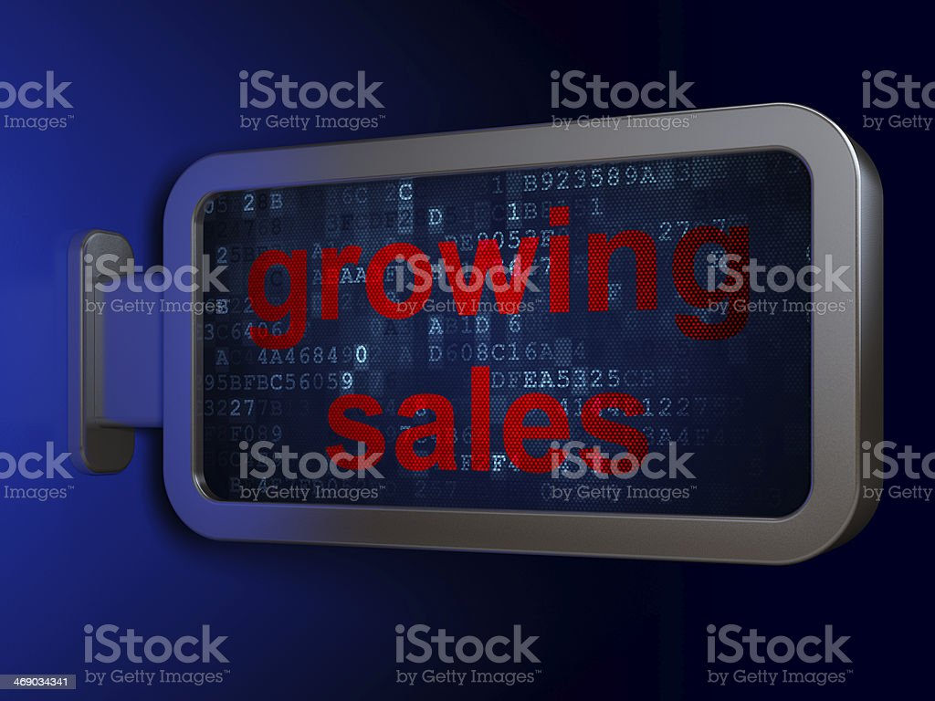 Business concept: Growing Sales on billboard background royalty-free stock photo
